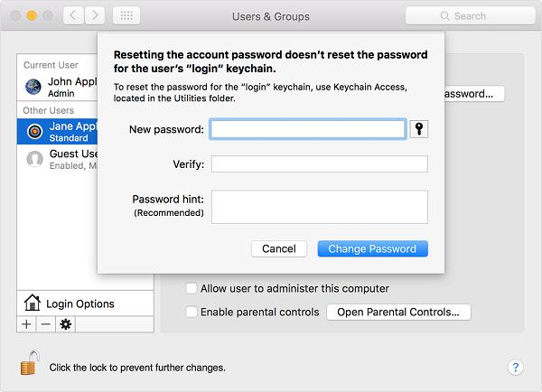 Create New User Account on Mac