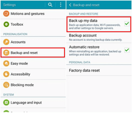 Directly Back up Files with Android Phone