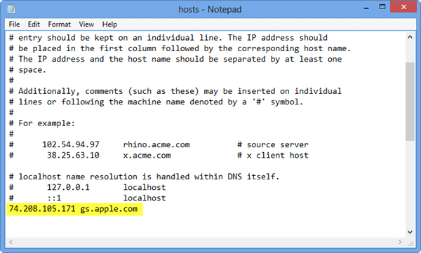 iTunes 3194 Error Host File