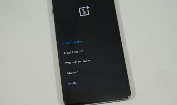 OnePlus in Recovery Mode