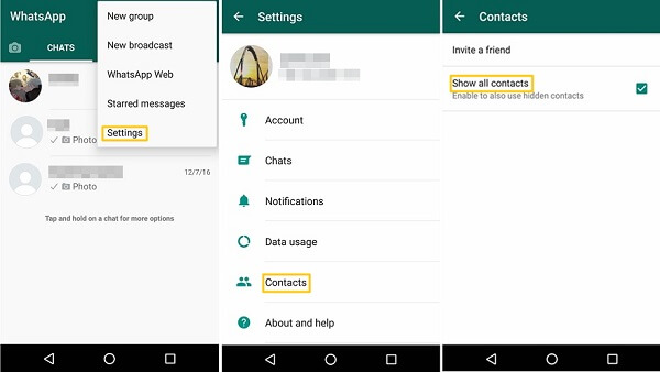Show All Contact in WhatsApp