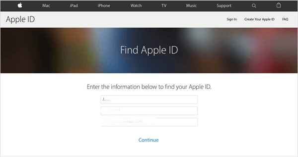 Find Apple ID