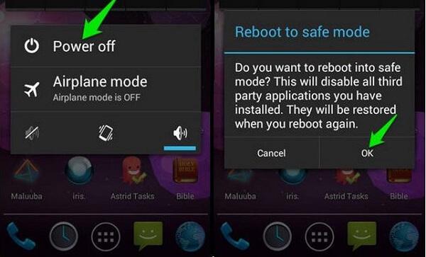 Turn on Safe Mode