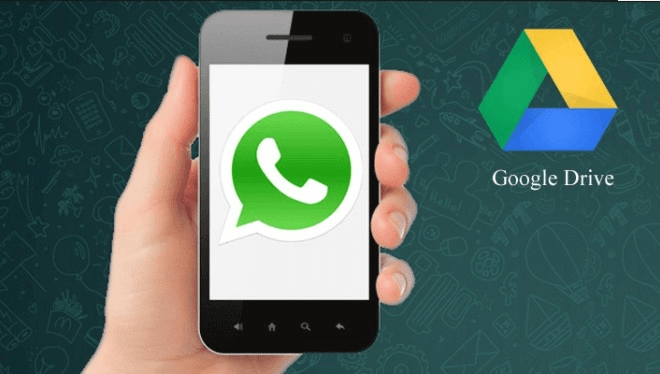 WhatsApp Google Drive Logo