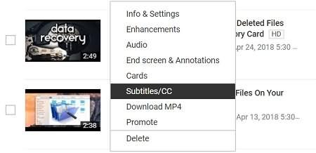 YouTube Subtitles CC