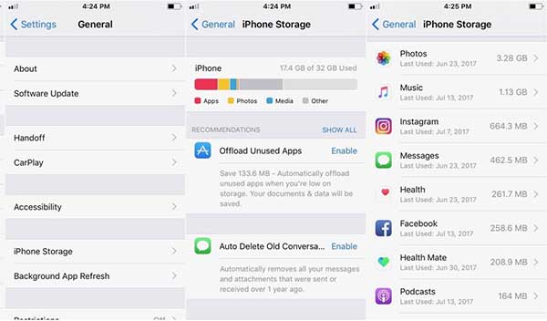 Checking Storage on iPhone