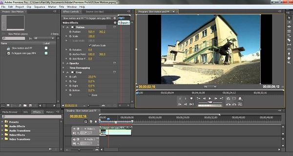 Crop Video in Adobe Premiere