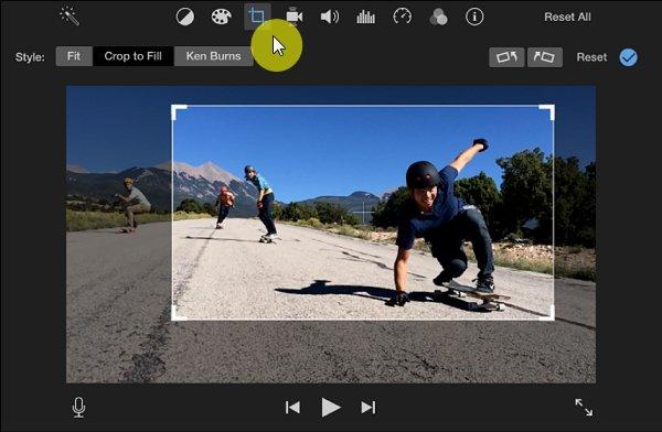 Crop Video in iMovie