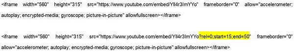 Embed and Trim YouTube Video