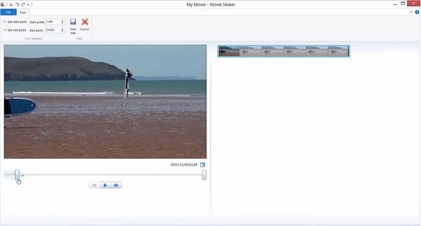 Trim Video in Windows Movie Maker