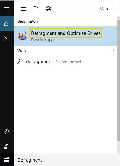 Defragment Hard Disk