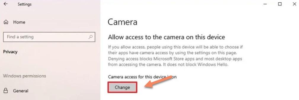 privacy settings camera