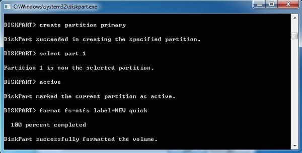 Format RAW Drive to NTFS
