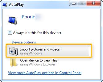 Importar imágenes de iPhone
