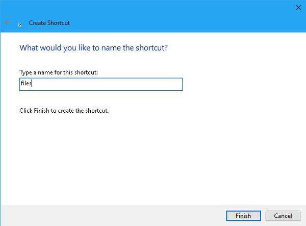 Name A Shortcut