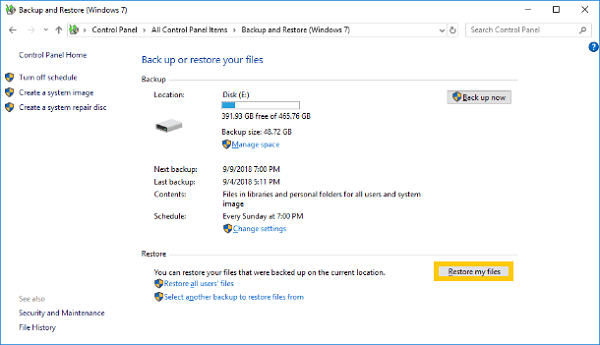 Recover Deleted Files from Windows Backups