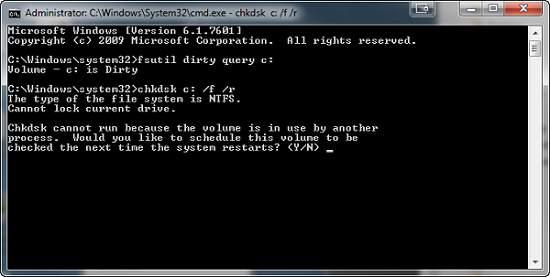 Run CHKDSK Command