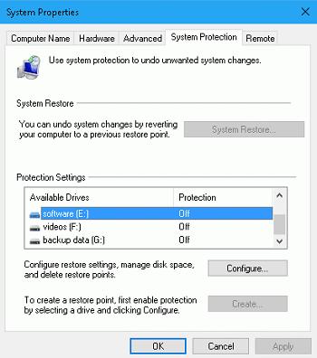 Windows 檔案還原功能