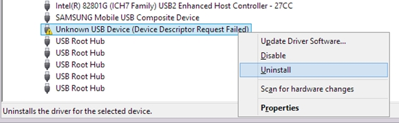 Uninstall Unknown USB Device